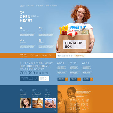 Charity Responsive Joomla Template