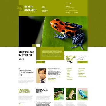 Exotic Pets Responsive Website Template