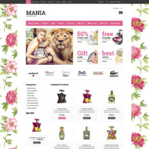 Cosmetics Store ZenCart Template
