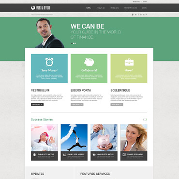Financial Advisor Responsive WordPress Theme #52470
