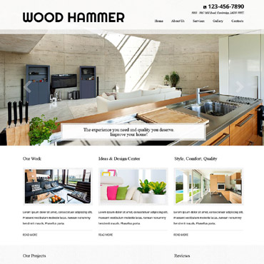 Residential Remodeling Website Template #52522