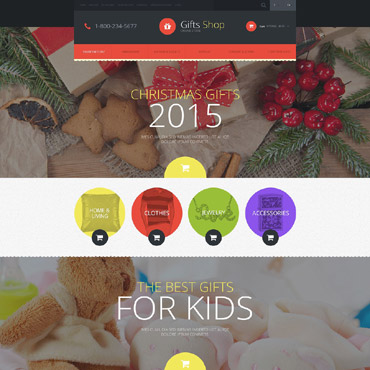 Christmas Gifts Store OpenCart Template #52526