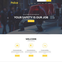 Police Responsive Joomla Template