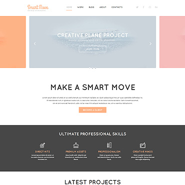 Web Design Responsive WordPress Theme #52602