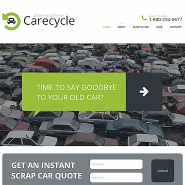 Car Scrap Yard Moto CMS HTML Template