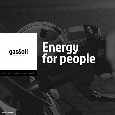 Gas & Oil Responsive Moto CMS HTML Template