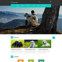 Dog Responsive Website Template
