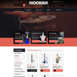 Tobacco Responsive VirtueMart Template