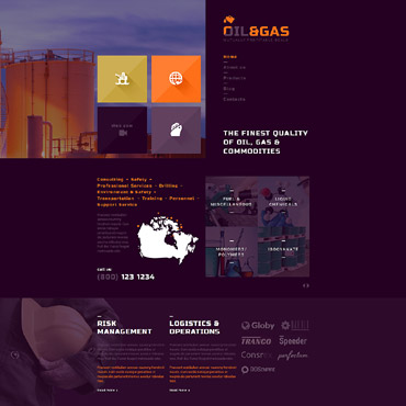 Gas & Oil Responsive Joomla Template