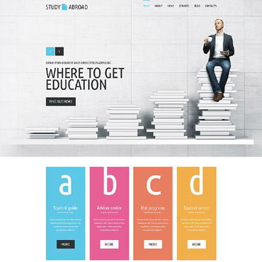 Study Abroad Website Template #52738