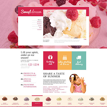 Ice Cream Responsive Joomla Template