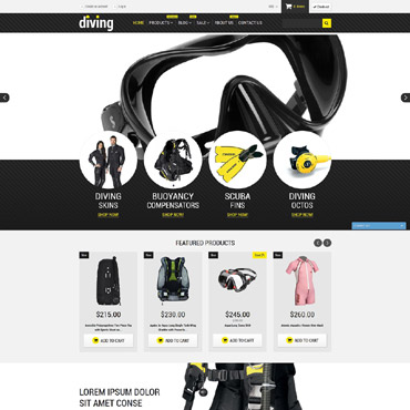 Diving Responsive Shopify Theme