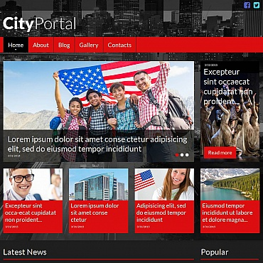 City Portal Moto CMS HTML Template