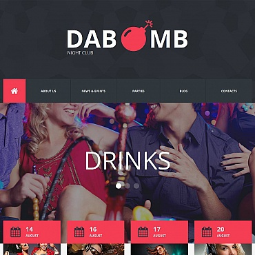 Night Club Moto CMS HTML Template