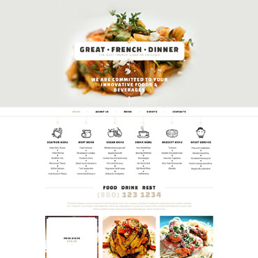 French Restaurant Responsive Website Template