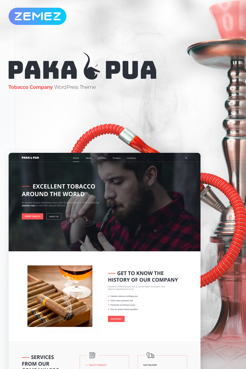 Tobacco Responsive WordPress Theme