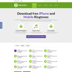 Mobile Content Responsive Website Template