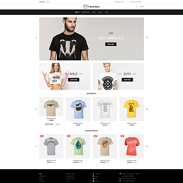 Designed TShirts OsCommerce Template #52882
