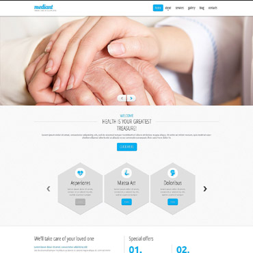 Elderly Care Responsive Drupal Template #52894