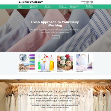 Laundry Responsive Joomla Template
