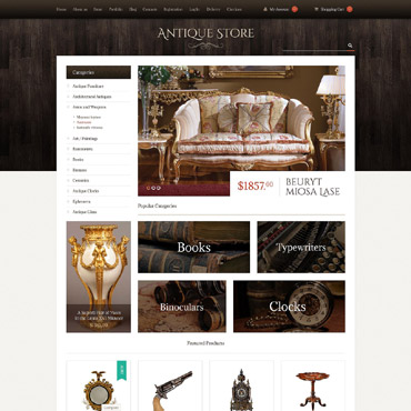 Antique Store Responsive WooCommerce Theme
