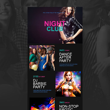 Night Club Responsive Newsletter Template