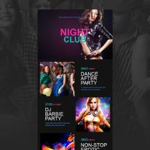 Night Club Responsive Newsletter Template