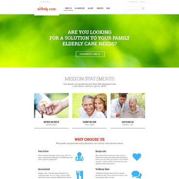 Elderly Care Responsive WordPress Theme