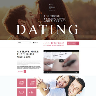 Dating Responsive Joomla Template