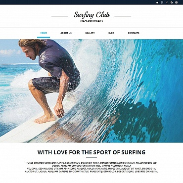 Surfing Moto CMS HTML Template