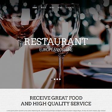 European Restaurant Moto CMS HTML Template