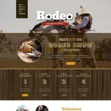 Horse Racing Responsive Drupal Template