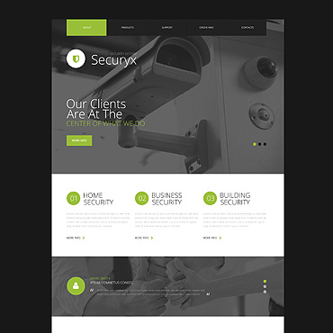 Security Responsive Website Template
