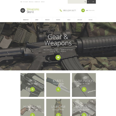 Weapons Store Responsive OpenCart Template