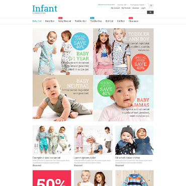 Baby Store Responsive Magento Theme