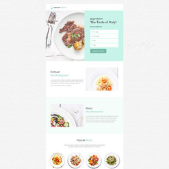 Cafe and Restaurant Unbounce Template