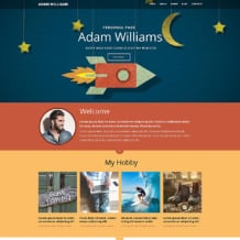 Personal Page Responsive Website Template