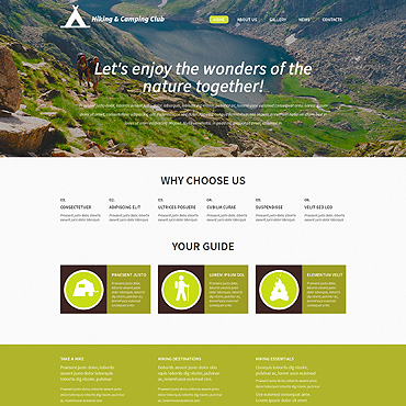Camping Responsive WordPress Theme