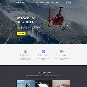 Flight School Responsive Website Template