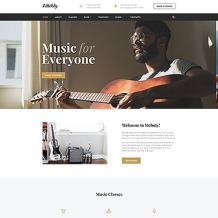 Music School Responsive Website Template