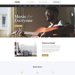 Music School Responsive Website Template