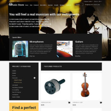 Music Store OsCommerce Template