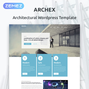 Architectural Finish WordPress Theme #53370