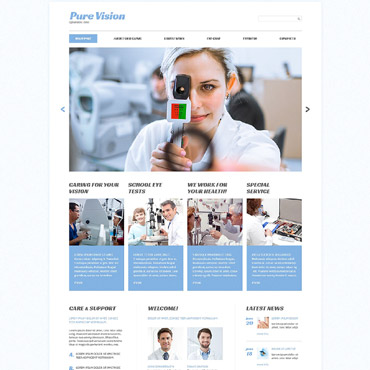 Pure Vision Website Template #53414