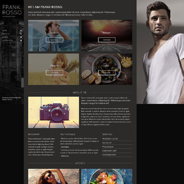 Photographer Portfolio Responsive Website Template #53418