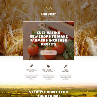 Agriculture Responsive Landing Page Template