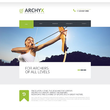 Archery Responsive Website Template