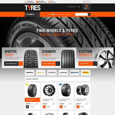 Wheels and Tyres OpenCart Template #53498