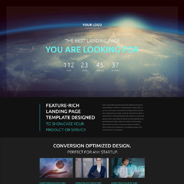 Communications Responsive Landing Page Template