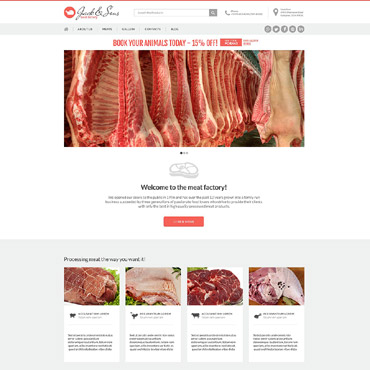 Cattle Farm Responsive Drupal Template